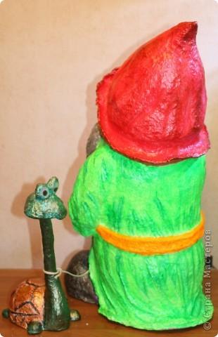 Гномик и его домашний питомец.   фото 2