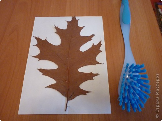 Когда мы с сыном собирали листья для гербария к нам подошла женщина и подсказала идею,как сделать вот такой  необычный листик. фото 2