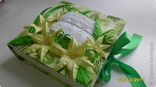 """Мамочка попросила сделать коробочку для сладкого подарка. Шоколадница не подходила, хотелось отблагодарить конфетами. Получилась такая вот """"конфетница"""". фото 1"""