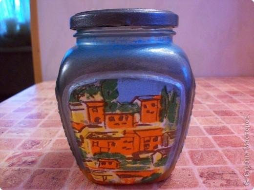 Попросили меня сделать красивую баночку, ну я и разошлась,наборчик забацала, вазу и тарелку на стену.))) фото 3