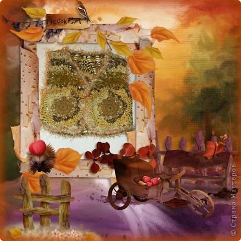 """Жилет """"Осенний листопад"""" фото 1"""