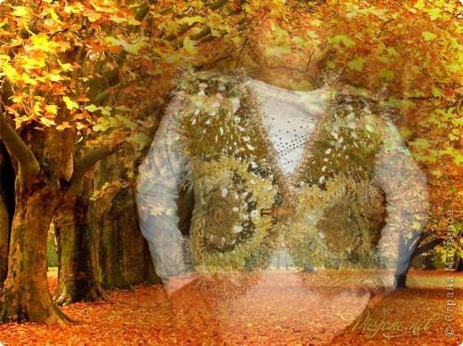 """Жилет """"Осенний листопад"""" фото 2"""