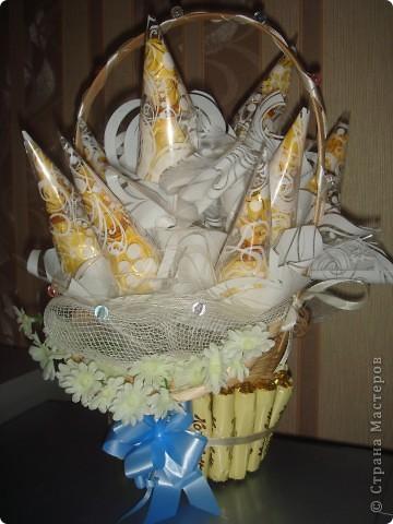 Корзинка с конфетами фото 4