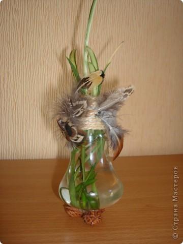 Была лампочка - стала вазочка фото 1