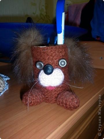 Вот такой пёсик поселился на столе моего школьника) фото 1