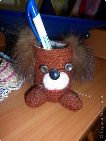 Вот такой пёсик поселился на столе моего школьника) фото 3