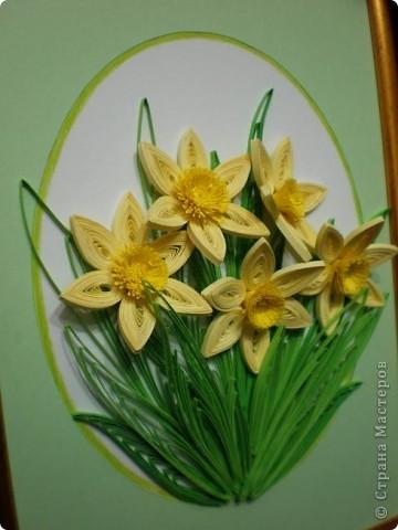 Благодарна всем мастерицам за работы с нарциссами...меня очень впечатлили эти нежные цветы...и накрутила вот такую композицию... фото 2