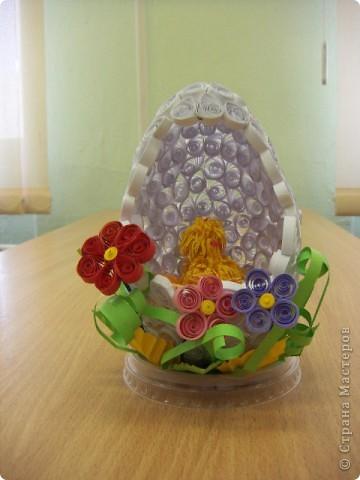 Квиллинговое яйцо фото 1