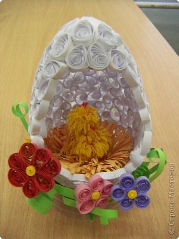 Квиллинговое яйцо фото 2