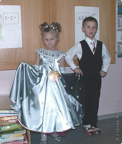 костюм Лисички (пошит из старого халата,тесемочек и отделан мехом) фото 3