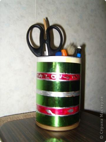 оформление стаканчика для карандашей и ручек