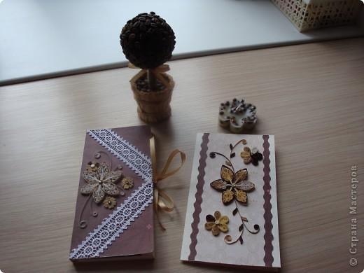 Вот такой подарочный набор получился у меня. Первый раз делала шоколадницу и свечку. Хочу сказать - процес ооооочень увлекательный. Думаю он у меня не последний. фото 1