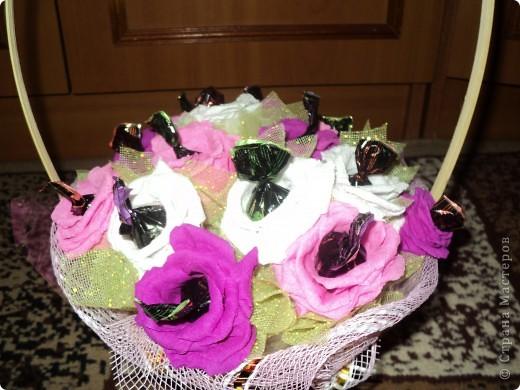 Корзинка роз. фото 4