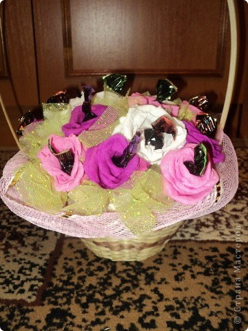 Корзинка роз. фото 2