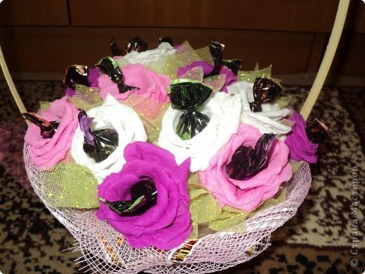 Корзинка роз. фото 3