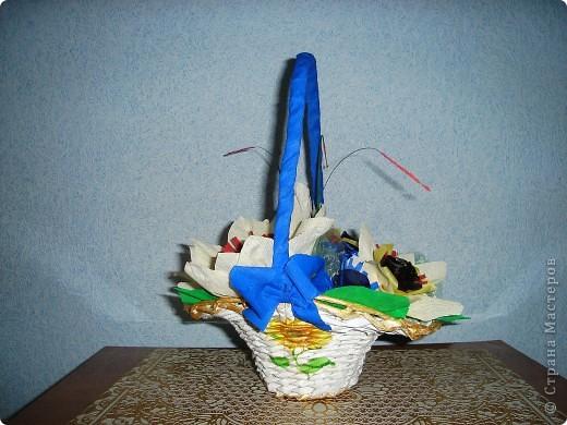 корзинка с подсолнухами фото 1