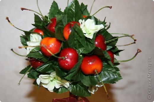 Черешневое деревце на юбилей очень отзывчивой и замечательной женщине.  фото 2