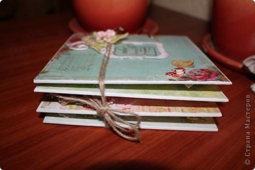 Мини-блокнотик в стиле шебби фото 2