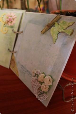 Мини-блокнотик в стиле шебби фото 4