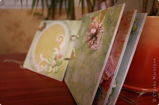 Мини-блокнотик в стиле шебби фото 5