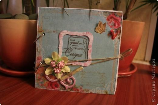 Мини-блокнотик в стиле шебби фото 1