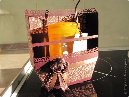 Вот такая родилась упаковочка для подарка на день рожденья подруги фото 1