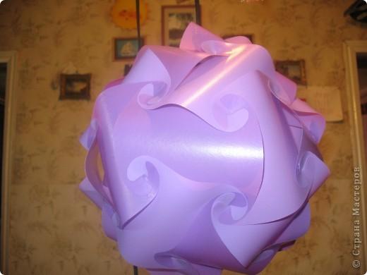 детали для шара были вырезаны из цветной стороны пластиковых папок фото 1