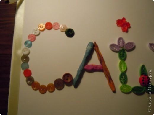 готовили с дочкой домашнее задание: надо сделать буквы из разных материалов. Решили создать имя моей первоклашки фото 3