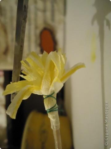 """Мастер класс """"Хризантемы из гофрированой бумаги"""" фото 8"""