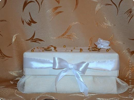 Свадебная коробочка для денег фото 2