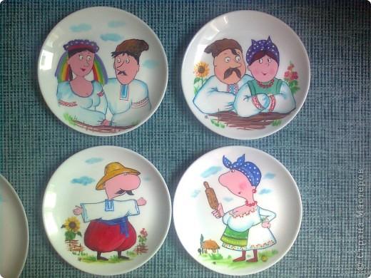 Роспись фарфоровых тарелок