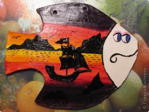Рыбка морская. Так как художник из меня никудышный воспользовалась МК http://stranamasterov.ru/node/164001?c=favorite,автору огромное спасибо за МК!!! фото 1