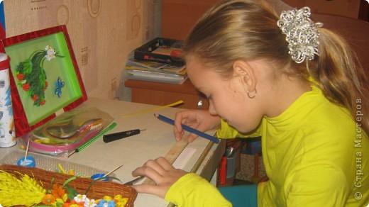 """Совместная работа с моей ученицей .. """" Краски осени """"- для выставки  в школе фото 2"""