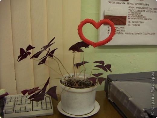 Валентинка на палочке