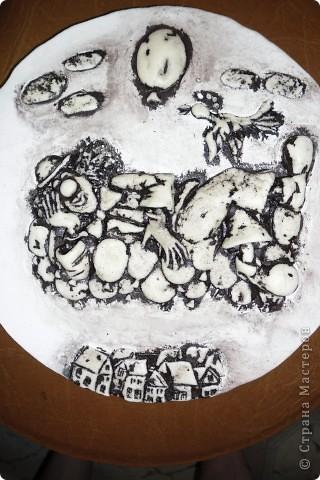 Очень нравится творчество художника Юрия Мацик(а). Это третья работа по его картинам http://stranamasterov.ru/node/237319, http://stranamasterov.ru/node/215547. Расскажу и покажу, ка я это красила... фото 4