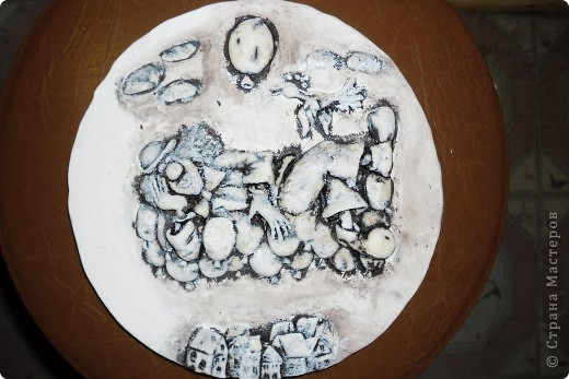Очень нравится творчество художника Юрия Мацик(а). Это третья работа по его картинам http://stranamasterov.ru/node/237319, http://stranamasterov.ru/node/215547. Расскажу и покажу, ка я это красила... фото 5