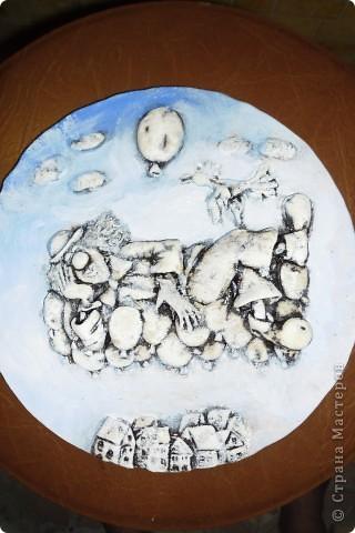 Очень нравится творчество художника Юрия Мацик(а). Это третья работа по его картинам http://stranamasterov.ru/node/237319, http://stranamasterov.ru/node/215547. Расскажу и покажу, ка я это красила... фото 6