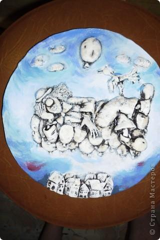 Очень нравится творчество художника Юрия Мацик(а). Это третья работа по его картинам http://stranamasterov.ru/node/237319, http://stranamasterov.ru/node/215547. Расскажу и покажу, ка я это красила... фото 7