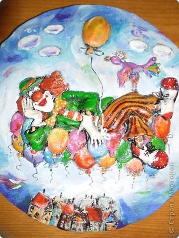 Очень нравится творчество художника Юрия Мацик(а). Это третья работа по его картинам http://stranamasterov.ru/node/237319, http://stranamasterov.ru/node/215547. Расскажу и покажу, ка я это красила... фото 12