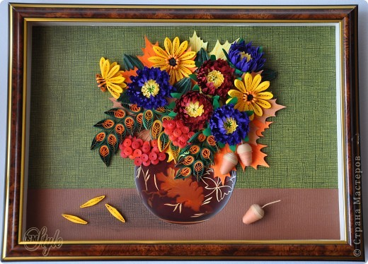 Доброго времени суток ВСЕМ!!! Я к Вам с очередной работой. Просили сделать какие-нибудь цветочки - получилась вот такая композиция. Надеюсь имениннице понравятся краски её времени года) фото 4