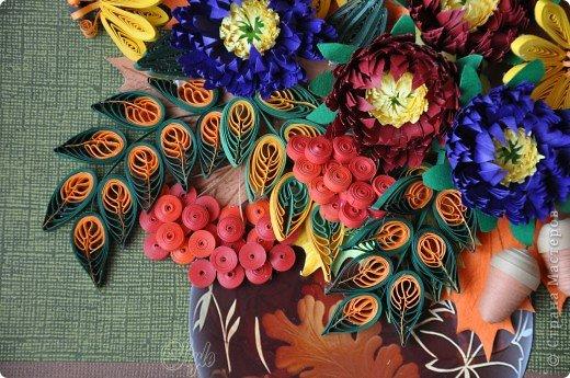 Доброго времени суток ВСЕМ!!! Я к Вам с очередной работой. Просили сделать какие-нибудь цветочки - получилась вот такая композиция. Надеюсь имениннице понравятся краски её времени года) фото 2