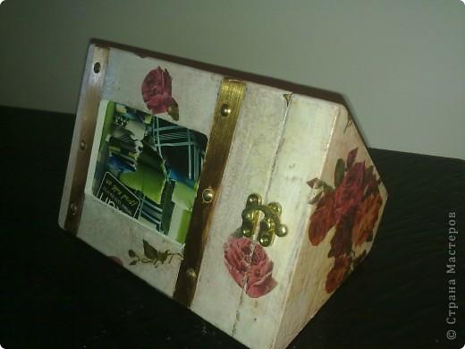 Была шкатулка из-под..., а превратилась в рамку для фотографий фото 2