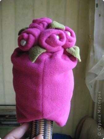 Добрый день,дорогие мастерицы! Сегодня я делаю шапочку для дочки да и вам предлагаю присоединиться...Все,что понадобится-флис,несколько бусинок,швейная машинка и хорошее настроение))) фото 13