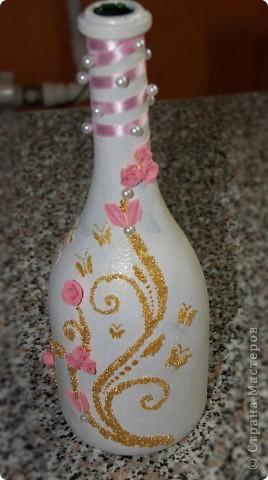 Это моя новая бутылочка. Долго над ней фантазировала и вот что получилось. фото 1