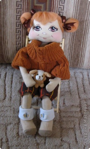Круглоголовая малышка Василинка. 24 см. фото 3
