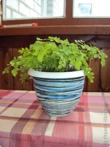 Вот такой горшочек я сделала для своего любимого цветочка))) фото 1