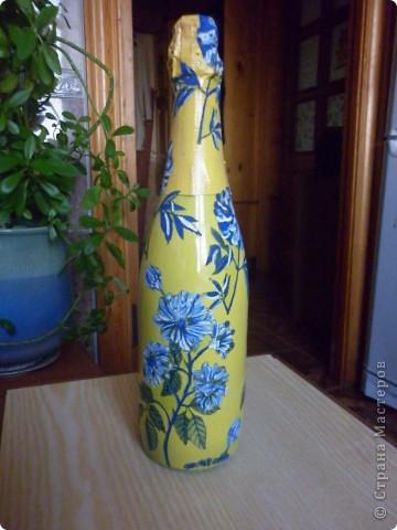 Бутылочка с цветами! фото 1