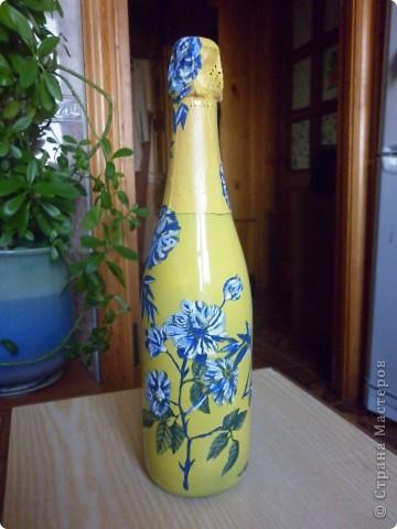 Бутылочка с цветами! фото 3