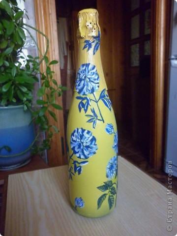Бутылочка с цветами! фото 2
