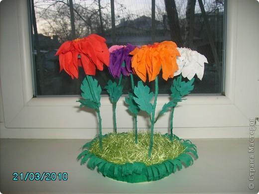 Спасибо Татьяне Просняковой за МК. Вот какие цветы у меня получились  фото 2